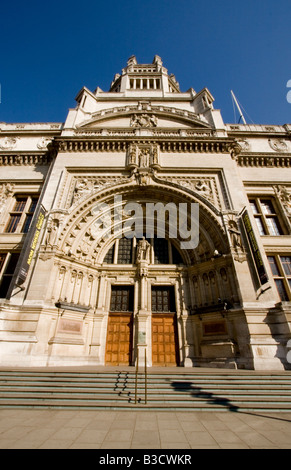 Arched doorway and entrance of the Victoria and Albert Museum in South Kensington London England - Stock Photo