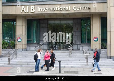 Allied Irish Bank AIB International Centre Dublin City Centre Ireland Irish Republic EIRE - Stock Photo