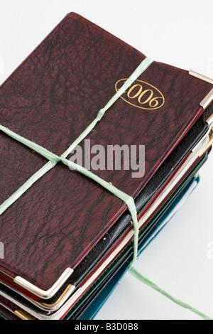 Used diaries - Stock Photo