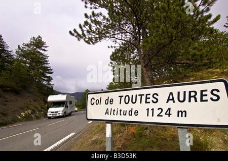 Europe France Provence Col de Toutes Aures - Stock Photo
