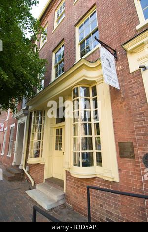 Washington DC USA Alexandria, VA's Old Town historic Stabler Leadbeater Apothecary Museum. - Stock Photo
