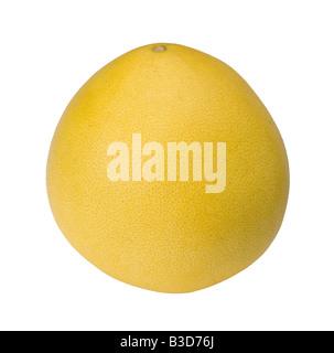 Pomelo or Chinese grapefruit Citrus maxima isolated on white background - Stock Photo