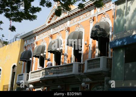 Spanish Colonial Style Architecture Merida Yucatan Peninsular Mexico