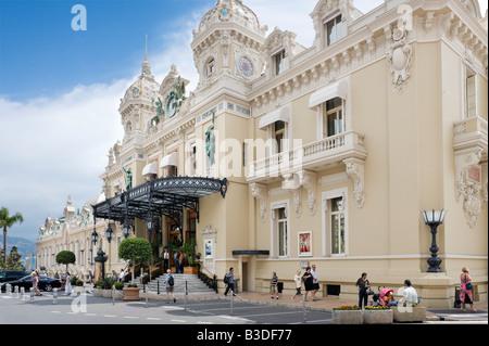 The Casino at Monte Carlo, Monaco, French Riviera, Cote d'Azur, France - Stock Photo