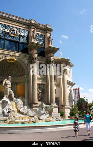 Trivi Fountain at the Caesar's Palace Forum Shops in Las Vegas, Nevada - Stock Photo