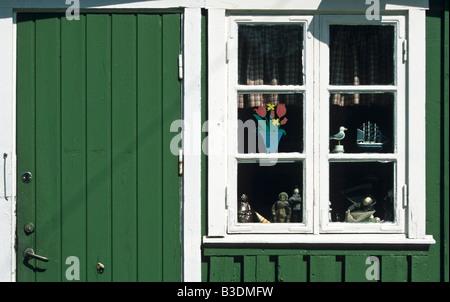 Fishermen's hut window - Stock Photo