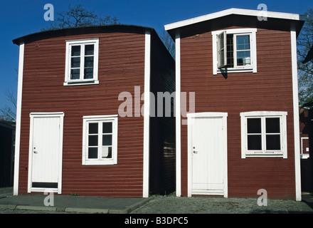 Fishermen's huts - Stock Photo
