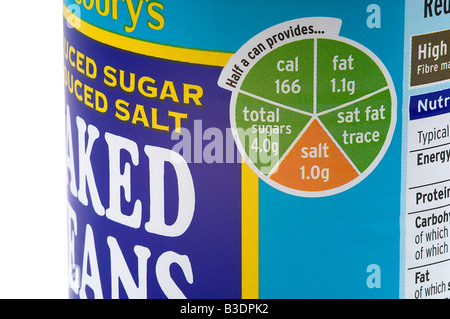 Food Label - Stock Photo