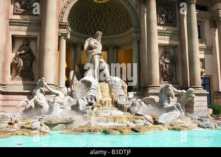 Trivi Fountain in Caesar's Palace Las Vegas - Stock Photo