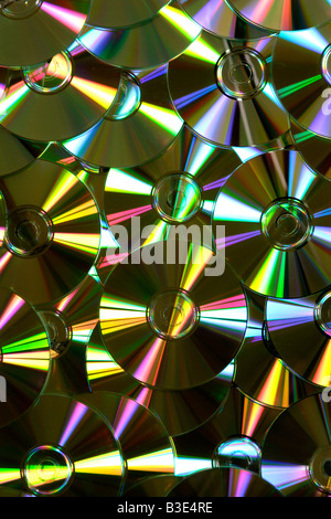 Background on compact disks close up - Stock Photo