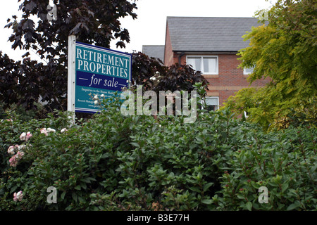 Retirement Properties For Sale Sign - Stock Photo