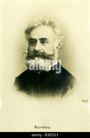 Nordau, Max, 29.7.1849 - 23.1.1923, Jewish/Hungarian physician and author/writer, portrait, picture postcard by - Stock Photo