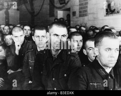 German soldiers in a Russian camp / 1942 - Stock Photo