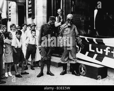 First air raid shelter, Berlin / 1933 - Stock Photo