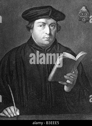 Luther, Martin, 10.11.1483 - 18.2.1546, German theologian, ecclesiastical reformer, half length, , Additional-Rights - Stock Photo