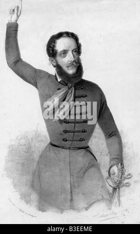 Kossuth, Lajos, 16.9.1802 - 20.3.1894, Hungarian politician, half length, engraving, 19th century, revolution 1848 - Stock Photo