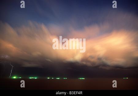 Storm over ocean - Stock Photo
