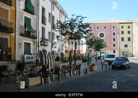 Plaza Mayor in Cuenca, Spain. - Stock Photo