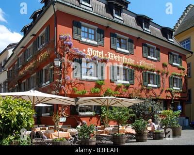 Deutschland, Baden-Wuerttemberg, Bodensee, Meersburg, Germany, Meersburg at Lake Constance - Stock Photo