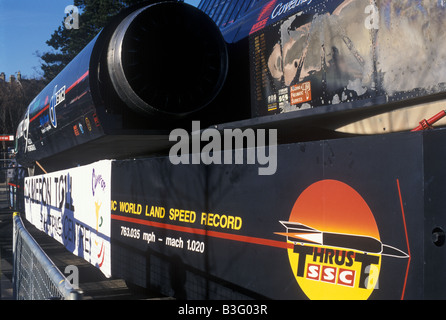 Thrust SSC world land speed record 763.035 mph mach 1.02 - Stock Photo