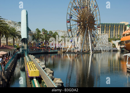 Disneyland Anaheim California usa 'california screemin' rollercoaster, roller coaster, amusement park, carnival, - Stock Photo