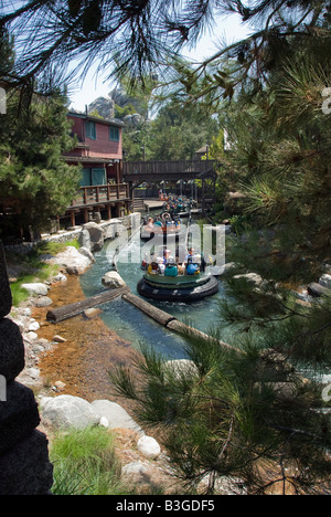 Disneyland resort anaheim, california  entertainment Grizzly River Run white water rapids raft adventure - Stock Photo