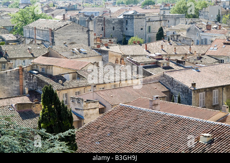 bordeaux french town houses house housing french france south of crampted close together roof old town traditional - Stock Photo