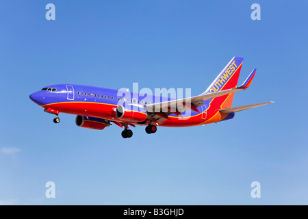 A Southwest airlines Boeing B737 - Stock Photo