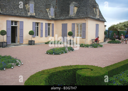 Marqueyssac Garden park Dordogne France Perigord - Stock Photo