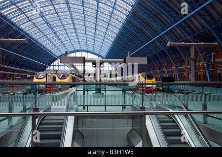St Pancras Eurostar Station London - Stock Photo