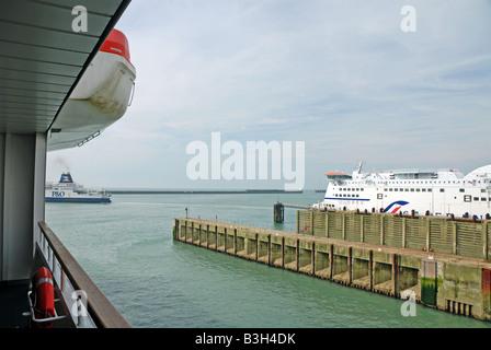 Ferries in Dover Harbour - Stock Photo