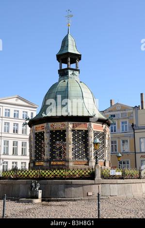 Wasserkunst in Wismar Mecklenburg Vorpommern Deutschland Wasserkunst in Wismar Mecklenburg Western Pomerania Germany - Stock Photo
