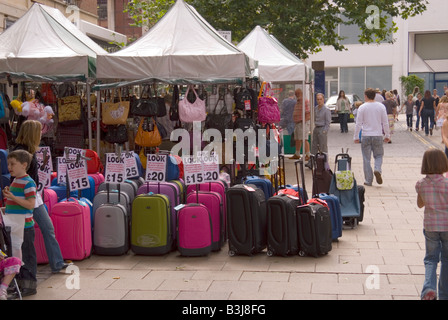 Suitcases on wheels for sale in Chapel Market, Islington London ...