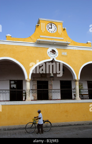 Plaza de la Constitution Izamal Yucatan Peninsular Mexico - Stock Photo