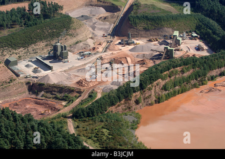 An aerial view of Cannock Chase quarry - Stock Photo