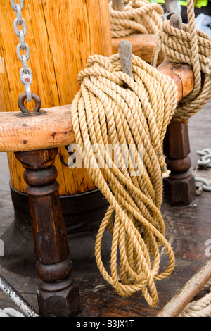 The Christian Radich sailing ship at the Tall Ships race in Liverpool July 2008 in Wellington Dock - Stock Photo