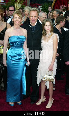 STING UK singer with wife Trudie Styler and daughter Coco in 2004