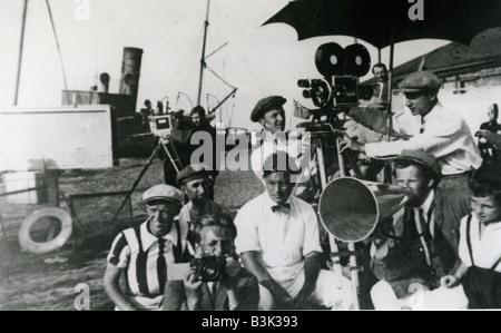 THE BATTLESHIP POTEMKIN  Sergei Eisenstein filming the 1925 film classic - Stock Photo