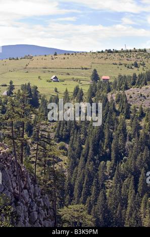 Mountain pastures of Imljani village in Bosnia and Herzegovina - Stock Photo