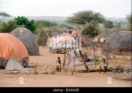 Belet Amin a camp for internally displaced Somalis near the border with Keny - Stock Photo