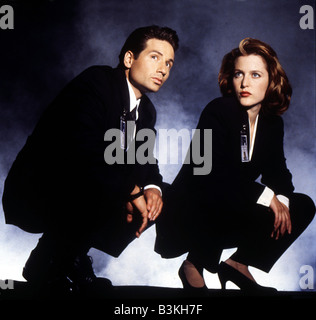 X FILES  US TV series 1993 to 2002 with David Duchovny and Gillian Anderson - Stock Photo