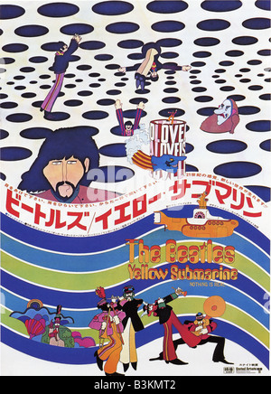 THE YELLOW SUBMARINE Japanese poster for the Beatles film - Stock Photo