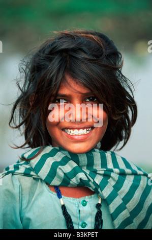 Indian boy Rajasthan India - Stock Photo