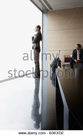 Business people in waiting area - Stock Photo