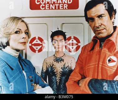 SPACE 1999  UK TV series running from 1975 to 1979 with Barbara Bain at left and Martin Landau - Stock Photo