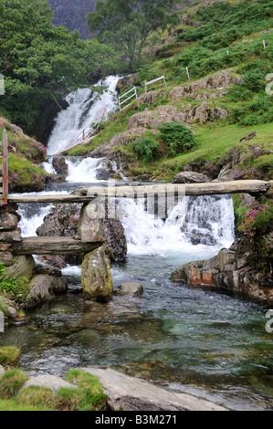 Stone Bridge on the Watkin Path Snowdonia National Park Wales - Stock Photo