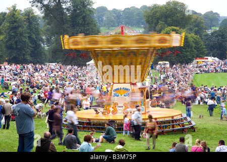 Crowds of people at Chatsworth Country Fair Derbyshire, UK - Stock Photo