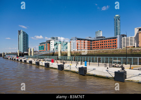 New buildings, Liverpool Skyline, England - Stock Photo