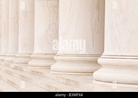 Marble stone columns in a row and steps, ideal for classic background - Stock Photo