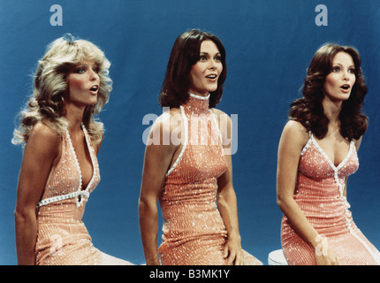 CHARLIE'S ANGELS US TV series 1976 to 1981 with from left Farah Fawcett, Kate Jackson and Jaclyn Smith - Stock Photo